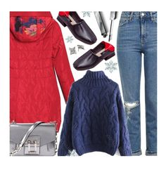 Casual by beebeely-look on Polyvore featuring Topshop, Proenza Schouler, Burberry, Sweater, winterfashion, wintersweater, twinkledeals and puffers