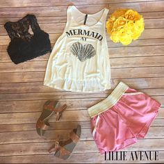 Mermaid at heart ivory tank