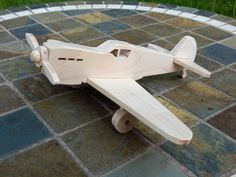 Wooden airplane by miroswoodworking on Etsy