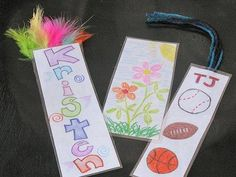Get-to-know-you bookmarks.Children are going to make a bookmark. They will include their name and things they like or activities they enjoy doing. They can share their bookmarks with the other kids.