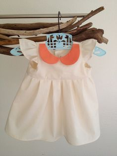 Kids Holiday Dress Organic clothes Baby Girl Peter pan collar. $34.99, via Etsy.