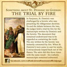 St Dominic de Guzman - The Trial by Fire