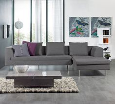 grey corner sofa:)