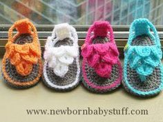 Crochet Child Booties Crochet Dreamz: Crocodile St Child Sandals or Booties, Crochet Sample, Zero-12 months   Crochet Baby Booties