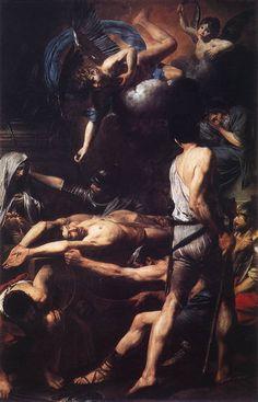 """v-ersacrum: """"Valentin de Boulogne, Martyrdom of saint Processus and saint Martinian, 1629 """""""