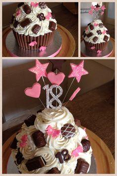 18th chocolate giant cupcake