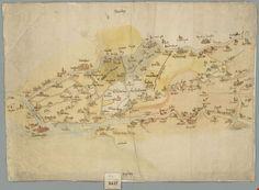 Kaart van de Alblasserwaard (16e eeuw) - Geschiedenis van Zuid-Holland