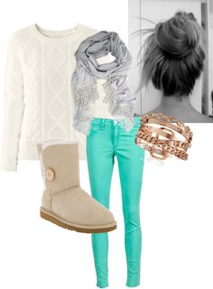 """""""winter sweater outfit"""" by cecibro ❤ liked on Polyvore"""