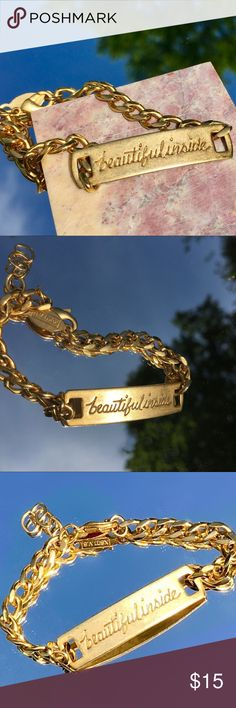 🛍️ CLEVER! AV. MAX Medical alert ID bracelet 😆 You're beautiful outside! This lets the world know you are on the inside too! And a nice reminder for yourself too! Love this! Like new condition. Would make a great gift! A.V. MAX Jewelry Bracelets
