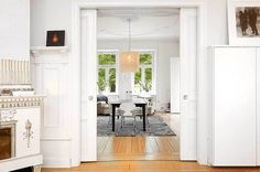 Large Bright Stockholm Apartment Displaying Fine Details