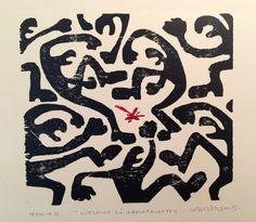 Kunstnerne: Lasse Kolsrud Grafikk, tresnitt Motiv:29 x 32 cm Ark: 46,5 x 56,5 cm Opplag: 3 Klikk på bildet for en større utgave