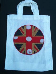 British Poker dot Flag Bag by Kaniez Abdi www.kaniezabdi.com