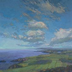 Thomas Paquette |  Raven's View to Fishguard  30 x 30 inches, oil on canvas