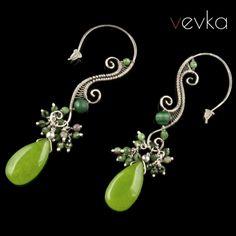 """Kolczyki z jadeitem """"Kolory miłości""""V - Vevka.pl - autorska biżuteria artystyczna"""