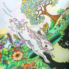 """""""Part 1 of 2, Escape to Wonderland coloring book by @goodwivesandwarriors…"""