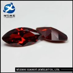 Source Wholesale 7*14mm synthetic deep garnet rough cubic zirconia diamond on m.alibaba.com