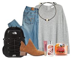 """""""one year contest!"""" by marthaswilliams ❤ liked on Polyvore featuring American Eagle Outfitters, The North Face, Too Faced Cosmetics and oneyearformartha"""