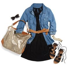 Love the chambray blouse and the great black dress! Hoping to see these in my upcoming #stitchfix