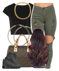 """""""Yeses its 2016"""" by trillest-queen ❤ liked on Polyvore featuring Alice + Olivia and Michael Kors"""