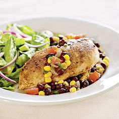 Low-Calorie Family-Friendly Meals  | Chicken with Southwestern Salsa | MyRecipes.com