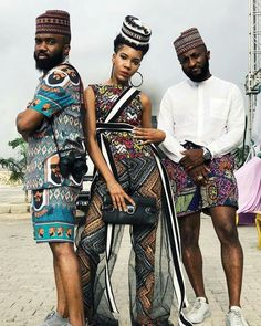 Editor's #Style Picks - 3 friends X 3 different African print looks .. #LOVEit  #ZenMagazine | For more click www.zenmagazineafrica.com  Modelled by @noble_igwe | @wovenblends | @thedanjuma