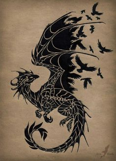 50 amazing dragon tattoos you should check out out . - You should check out 50 amazing dragon tattoos you should check - Tattoo Diy, Et Tattoo, Raven Tattoo, Tattoo Thigh, Tattoo Drawings, Trendy Tattoos, Cool Tattoos, Body Art Tattoos, Tribal Tattoos
