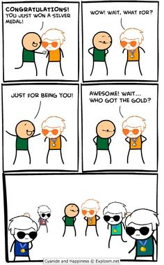 Homestuck / Cyanide and Happiness.