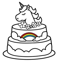 Unicorn Coloring Pages Mommy & Baby | Valentine coloring ...