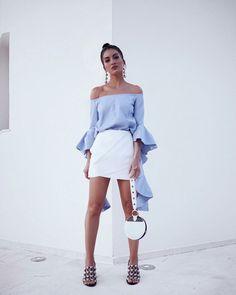Summer elegance with Camila Coelho. #fashion #brazil #brazilian #camilacoelho #fabfashionfix #summer #summerstyle #miniskirt