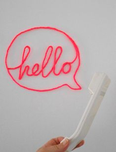 Wire-Wrapped Word hello DIY tutorial