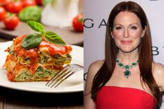 A Light, Healthy Vegetarian Lasagna Recipe Courtesy of Julianne Moore
