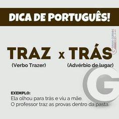 Português - gramática Learn Brazilian Portuguese, Portuguese Lessons, Grammar Tips, Portuguese Language, Fairy Tales For Kids, Language Study, Exam Study, School Notes, Study Notes