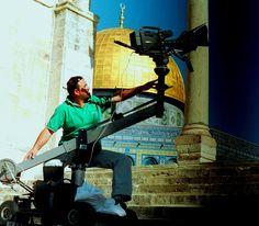 Director of Photography Hanna Abu Saada filming Dome of the Rock, Jerusaslem