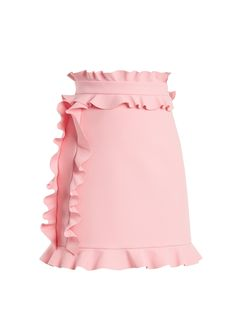 Ruffle-trimmed crepe mini skirt   MSGM   MATCHESFASHION.COM UK