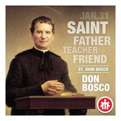 Saint John Bosco - Don Bosco - San Giovanni Bosco - San Juan Bosco Catholic Saints, Patron Saints, St John Bosco, Christian Warrior, Novena Prayers, Saint Quotes, Religious Quotes, The Life, Weird Facts