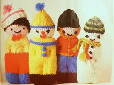 PDF Pattern Knitting Dolls 8 Soft Toys Pattern by PatternsIsland