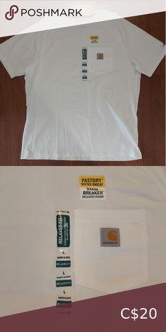 NWT Carhartt men's size large white tee New with tags never worn Carhartt Shirts Tees - Short Sleeve Sweat Stains, Carhartt Shirts, Plus Fashion, Fashion Tips, Fashion Trends, Large White, White Tees, Tee Shirts, Man Shop