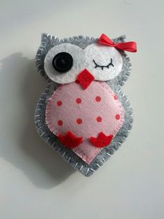 Cute owls to sew with felt: