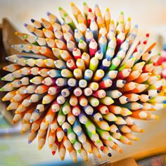 yes, i am one of those art dorks who keeps my set of 120 prismacolor colored pencils prominently displayed- just like this!