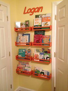 IKEA spice rack book shelves!