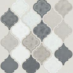 "Victoria 4"" x 4"" Ceramic Mosaic Tile in Warm Blend"