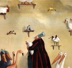 Noah's Ark by Lisbeth Zwerger Lisbeth Zwerger, Kawaii Illustration, Children's Book Illustration, Character Illustration, Food Illustrations, Franz Marc, Psychedelic Drawings, Noah, Principles Of Art