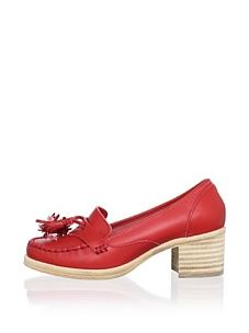 Swedish Hasbeens Women's Penny Loafer (Red)