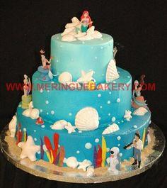Little Mermaid Baby Shower Cakes | Uploaded From Mobile