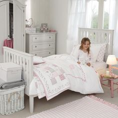 Gingham Cot Bed Linen Chalk Pink The White Company Little