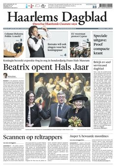 Haarlems Dagblad wordt tabloid op 13 april 2013 (afbeelding is dummy) Newspaper, Movies, Movie Posters, Journaling File System, Films, Film Poster, Cinema, Movie, Film