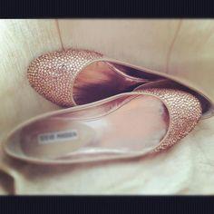 Gold Ballet Flats