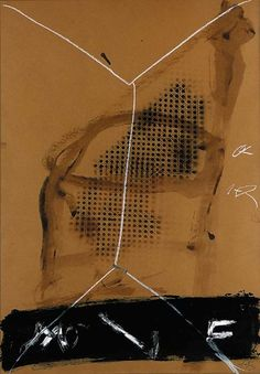 Antoni Tàpies Envelope et cannage acrylic, oil stick, resin and spraypaint on brown card x x Executed in 1982 Abstract Painters, Abstract Drawings, Abstract Art, Willem De Kooning, Franz Kline, Spanish Painters, Spanish Artists, Jasper Johns, Jackson Pollock