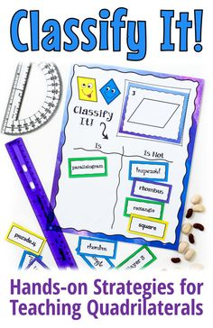 Teach your students how to classify quadrilaterals using the hands-on lessons, activities, and games in Classify It! This ready-to-use resource from Laura Candler includes a lesson, a sorting activity, a challenging (but fun!) math game, and two quizzes that will help your students master quadrilateral classification! #mathgames #classifyingquadrilaterals #classifyingpolygons #quadrilaterals #mathfun #hands-onmath Engage In Learning, Cooperative Learning, Fun Math Games, Sorting Activities, Teaching Math, Teaching Resources, Guided Math Groups, Quadrilateral, Math Workshop
