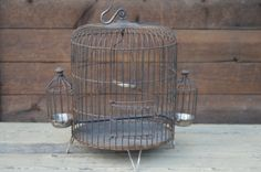 Antique Artisan Made  Bird Cage Vintage  Birdcage Vintage Bird Cage on Etsy, $175.00